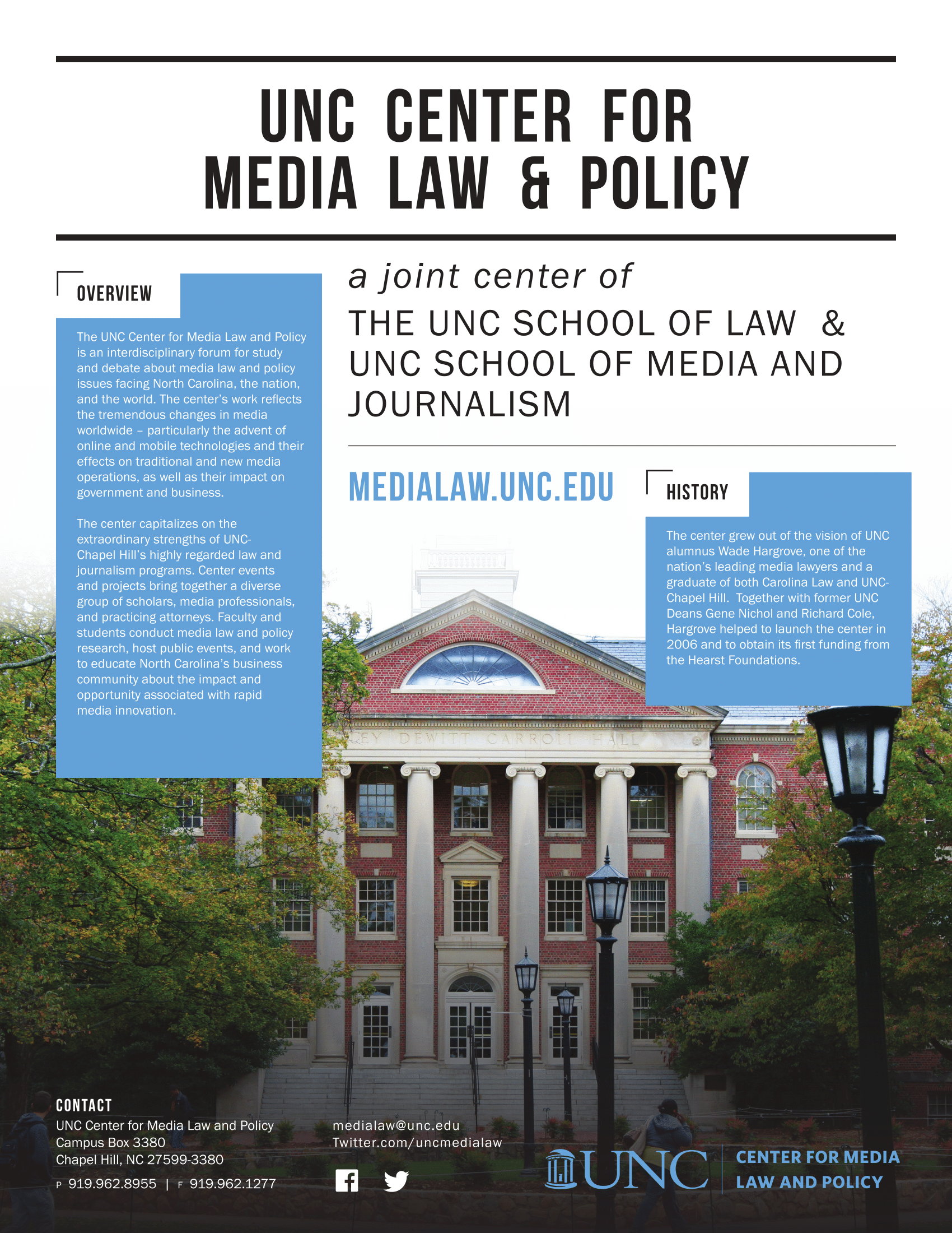 UNC Center for Media Law and Policy — Fact sheet